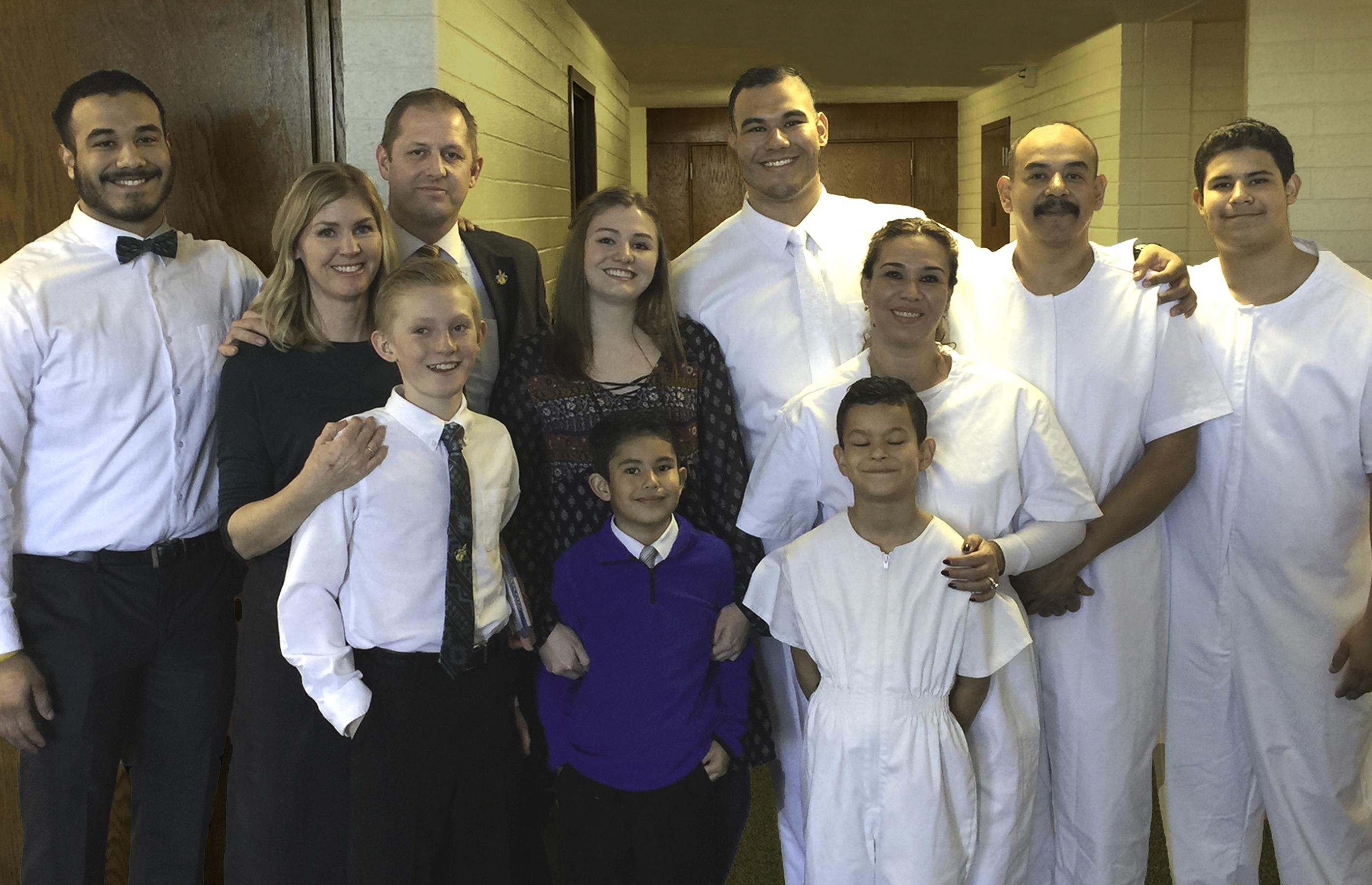 Baptism of Fernando's family