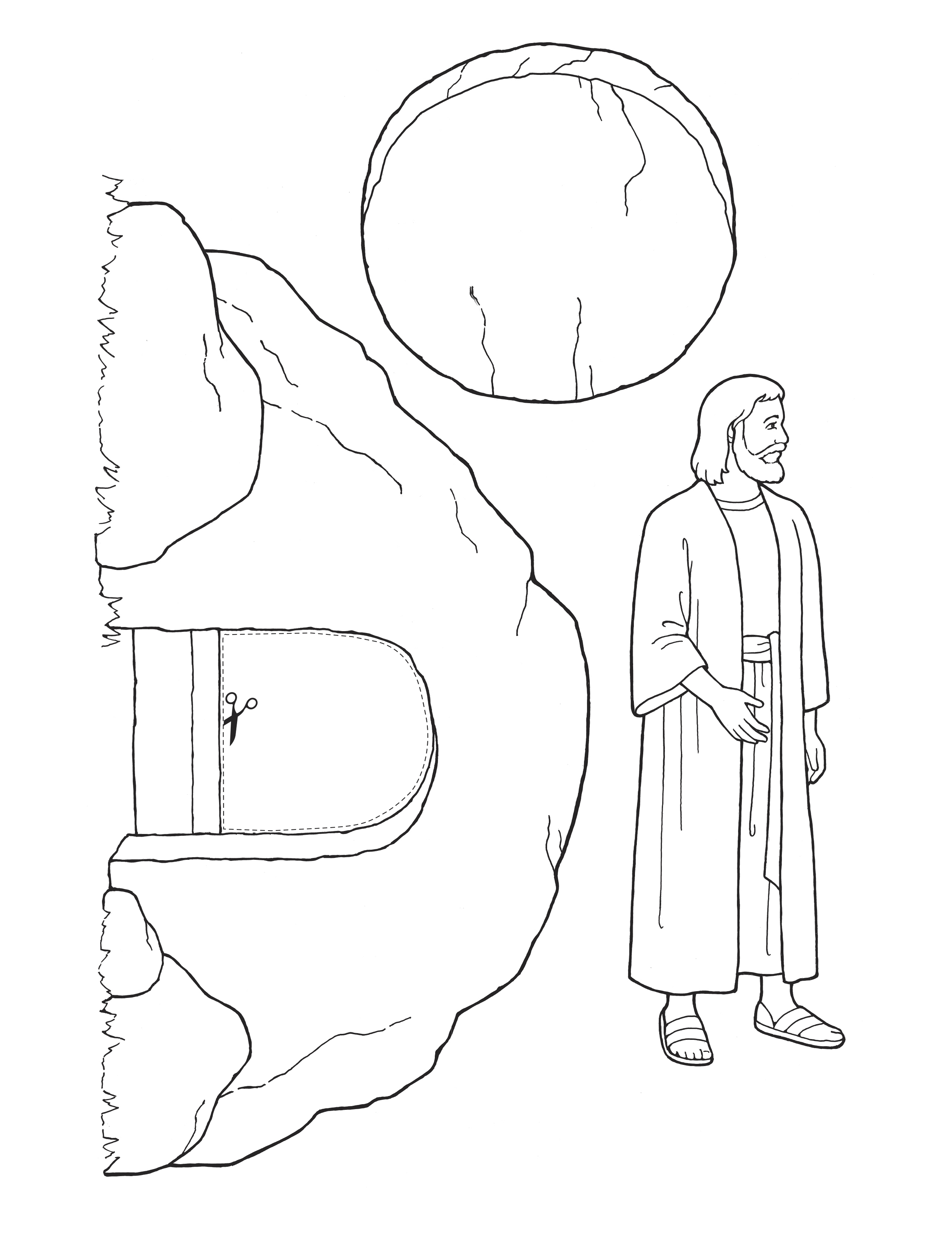 Free Empty Tomb Coloring Page, Download Free Clip Art, Free Clip ... | 3294x2545