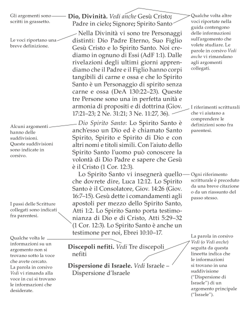Guide to the Scriptures sample entry