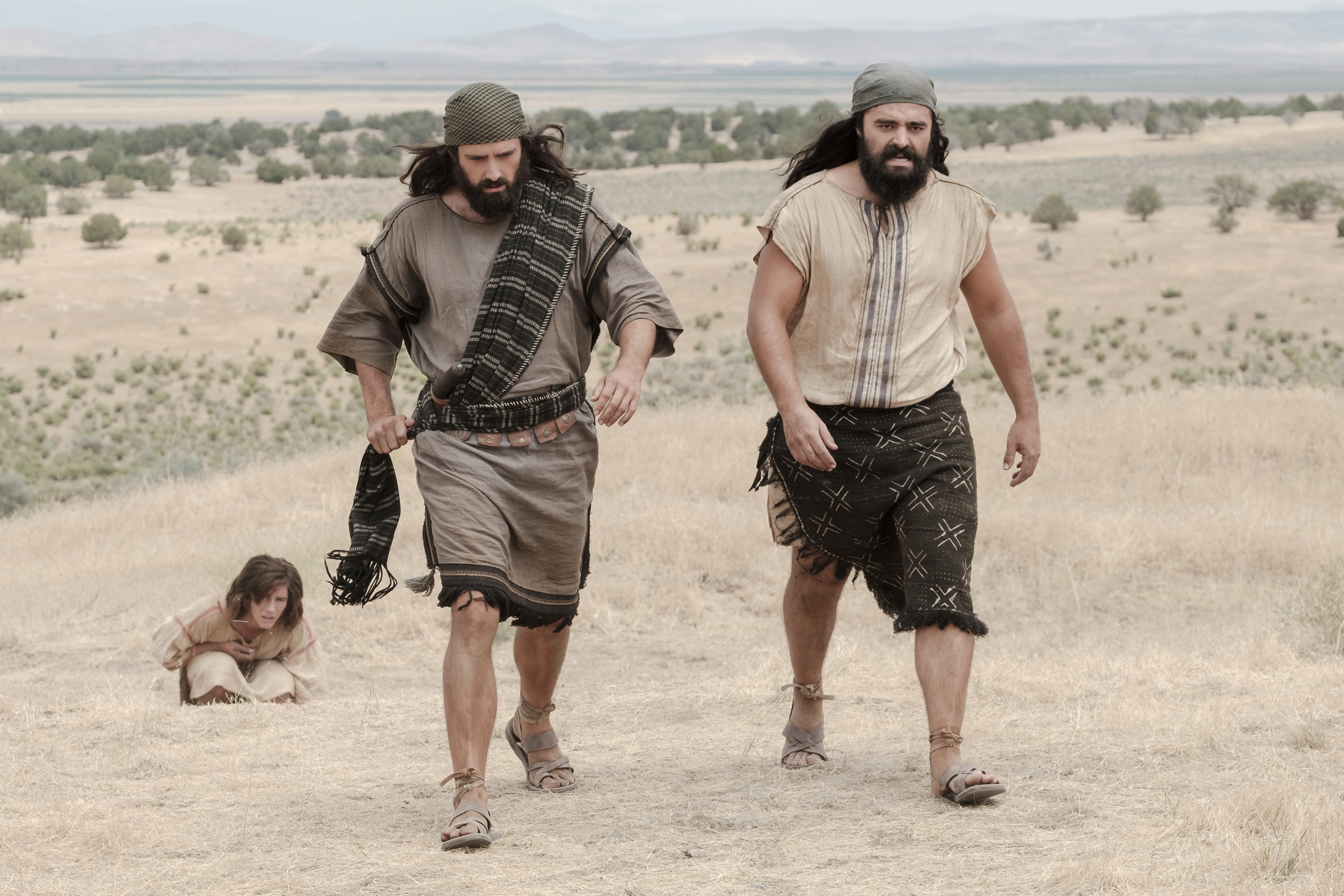 Laman and Lemuel leave Nephi bound in the wilderness.