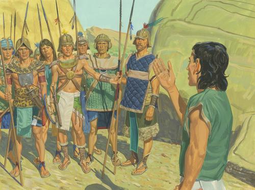 Mormon talking to army