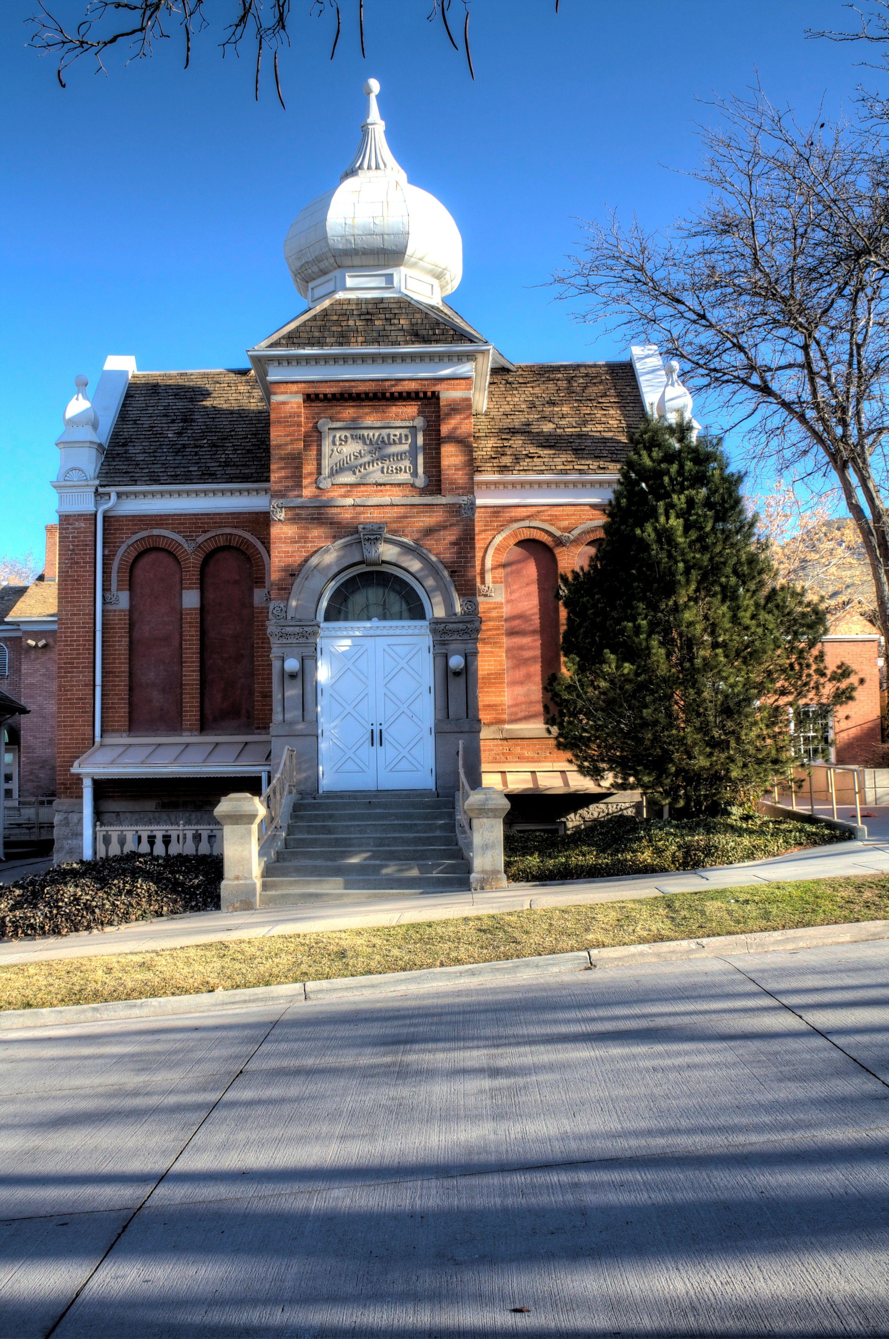 A small historic chapel in Salt Lake City, Utah.