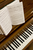 hymnbook on piano