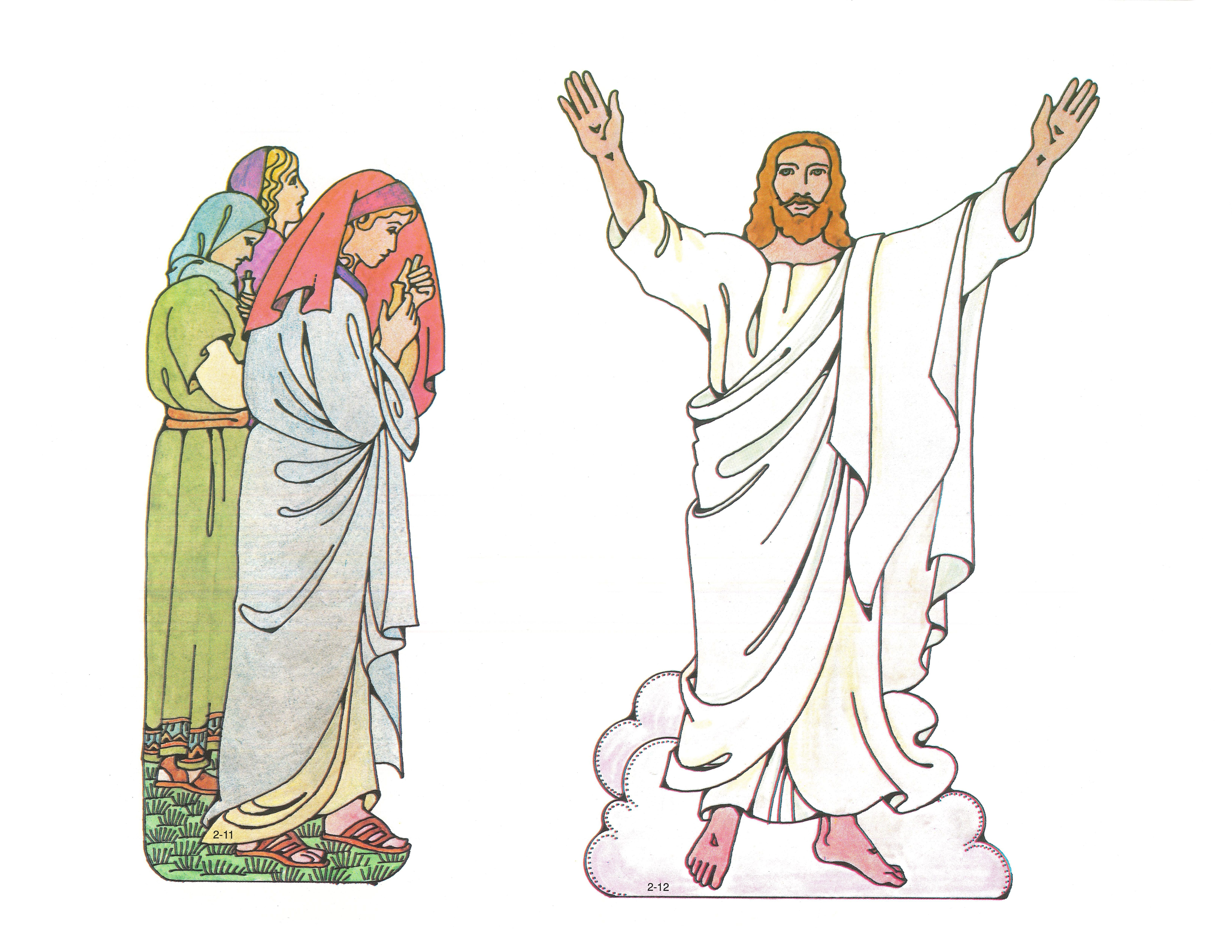 Primary 2: Choose the Right A Cutouts 2-11 Women with Ointments; 2-12 Jesus Resurrected.