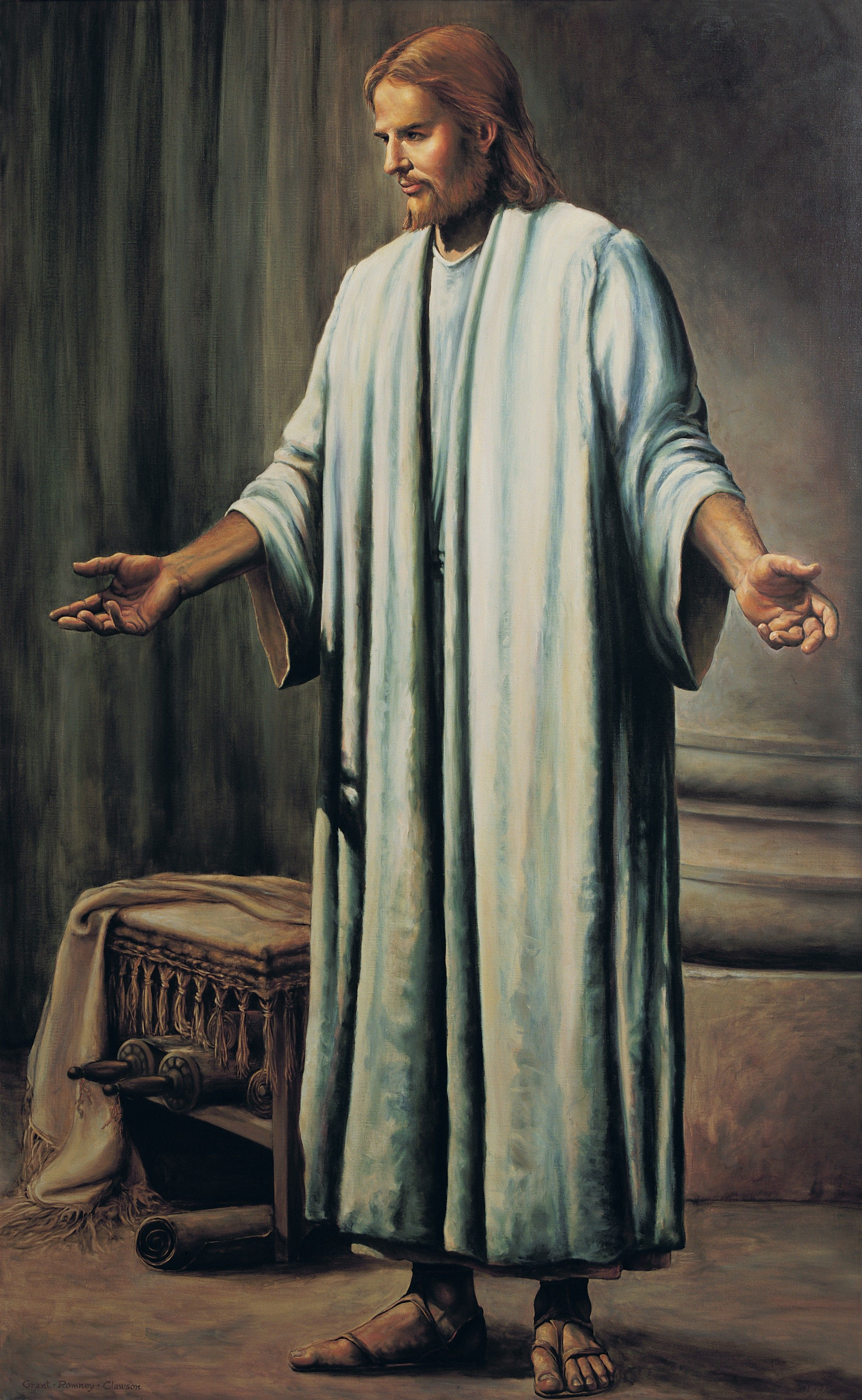 Jesus Christ in White Robes, by Grant Romney Clawson