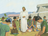 Jesus blessing disciples