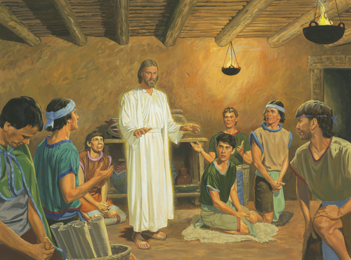 Jesus with disciples