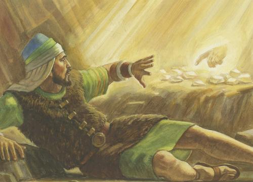 Christ touching each stone