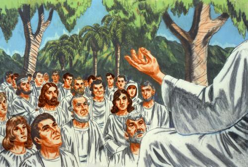 Heavenly Father speaking to His spirit children