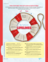 red-and-white life preserver with scriptures written on it
