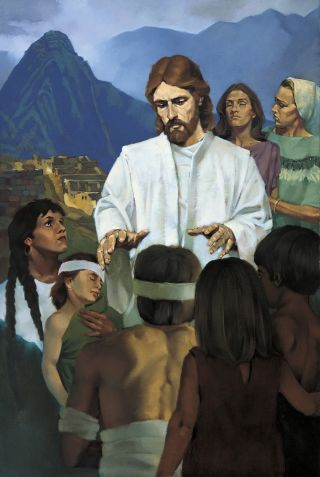 Jesus Healing the Nephites, by Ted Henninger