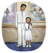 father and daughter in baptism clothes
