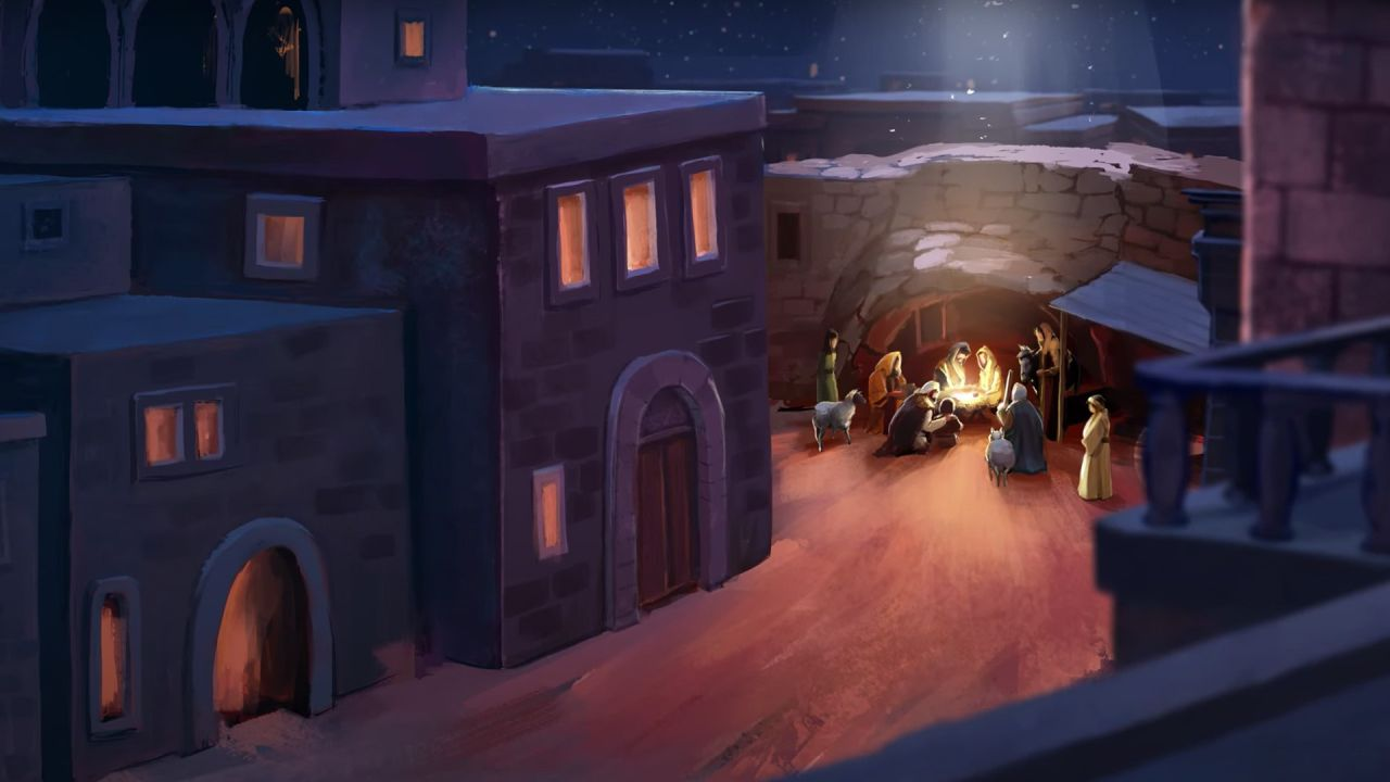 Animated picture of the nativity