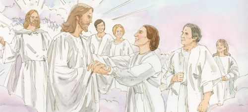 faithful Saints with Jesus and Heavenly Father
