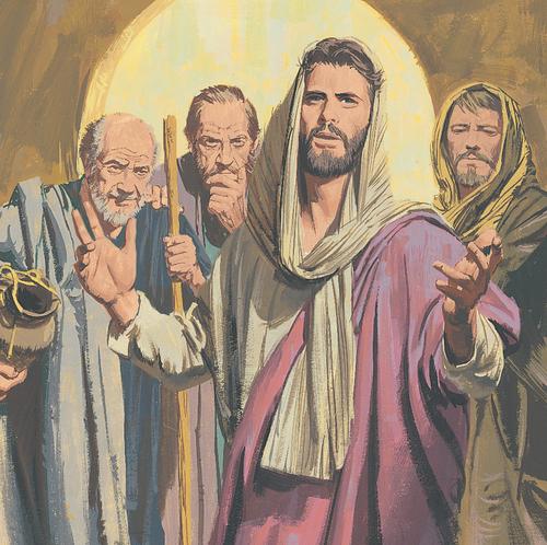 Jesus teaching people