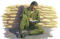 soldier reading book