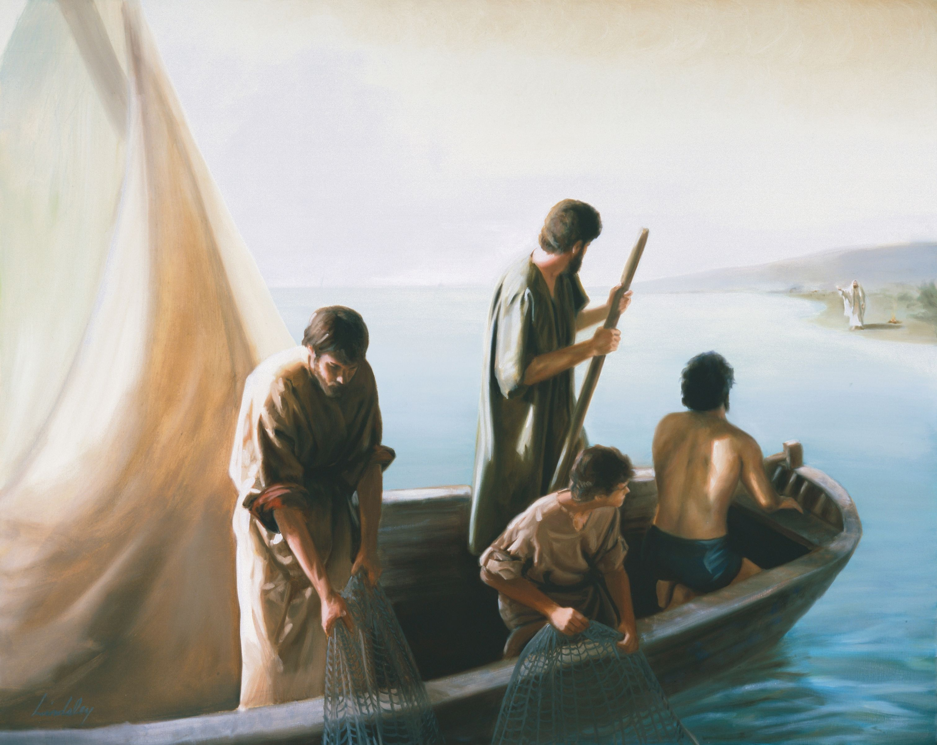 The Resurrected Christ at the Sea of Tiberias, by David Lindsley