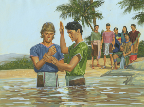 disciples baptizing others