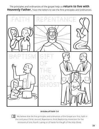 Fourth Article of Faith coloring page