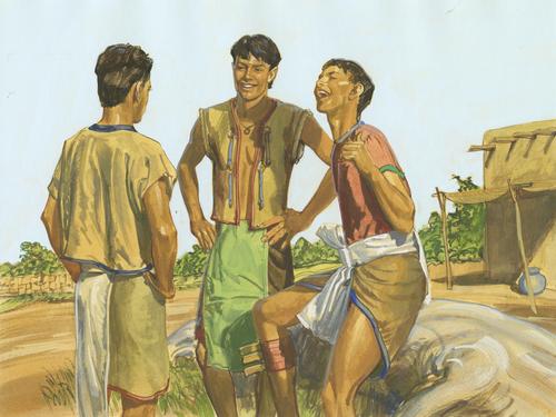 men smiling