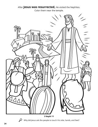 Jesus Appeared to the Nephites coloring page