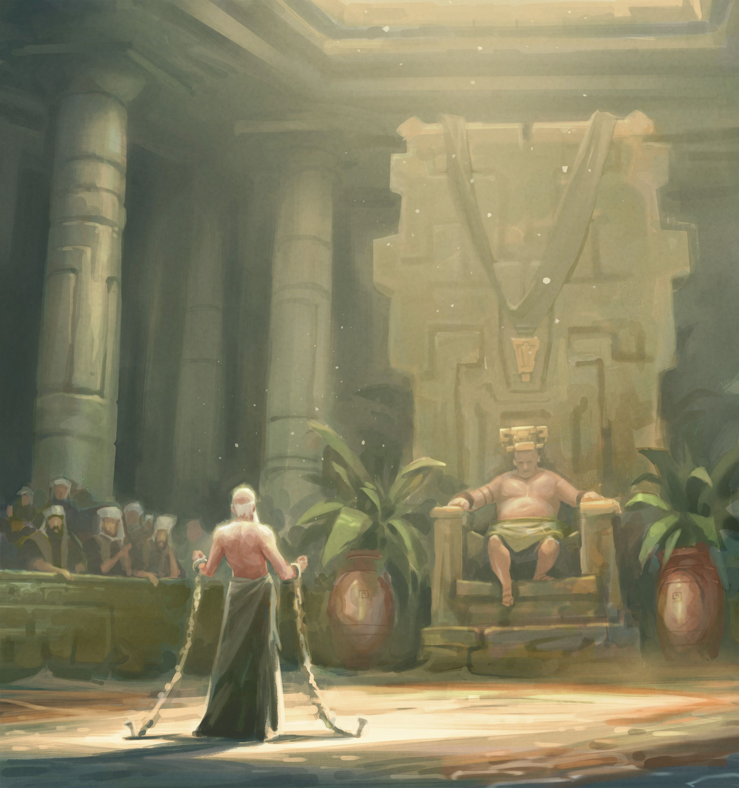 Abinadi before King Noah, by Andrew Bosley © undefined ipCode 1.