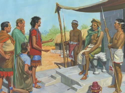 Nephites talking to King Laman