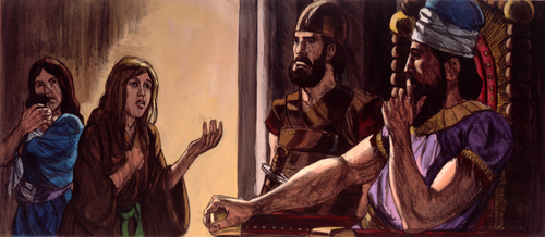 two women with Solomon