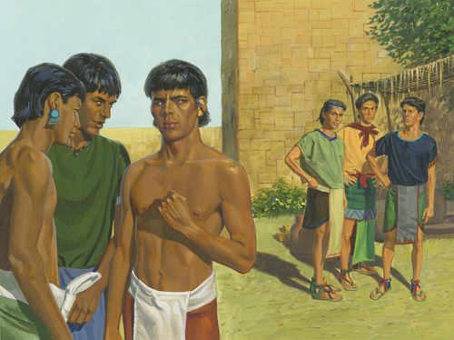 two groups of men
