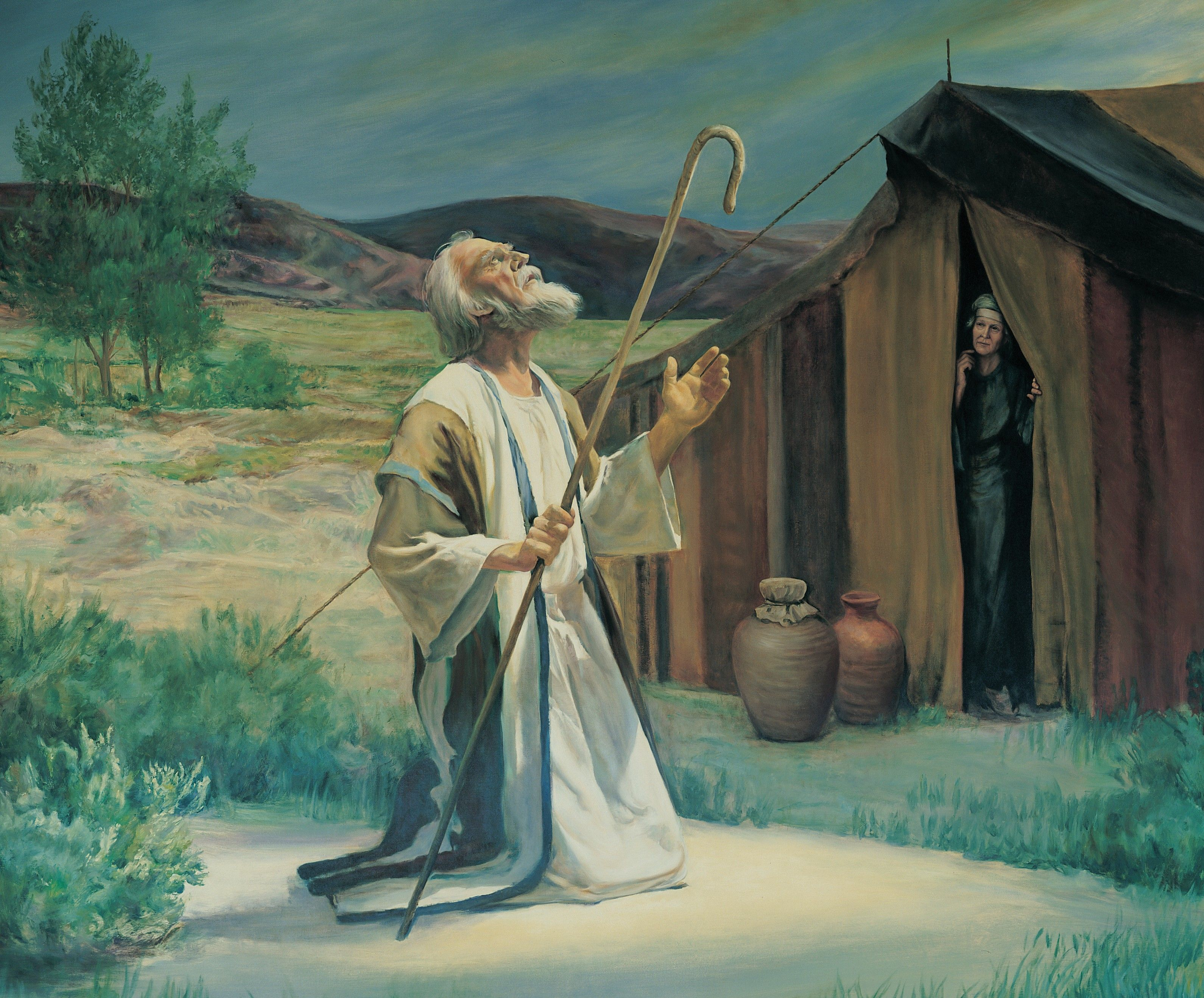 Abraham on the Plains of Mamre, by Grant Romney Clawson