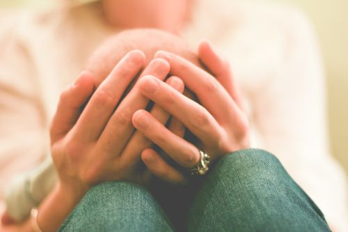 Hands of mother