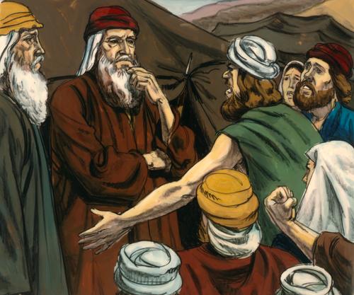 Israelites complaining to Moses
