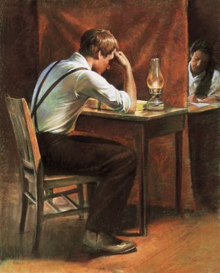 Joseph Smith Translating (Joseph Smith Translating the Gold Plates)