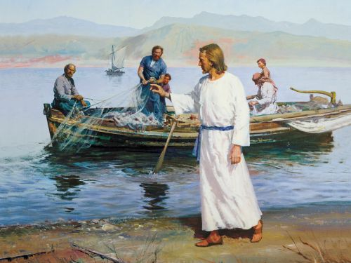 Christ Calling Peter and Andrew, by Harry Anderson