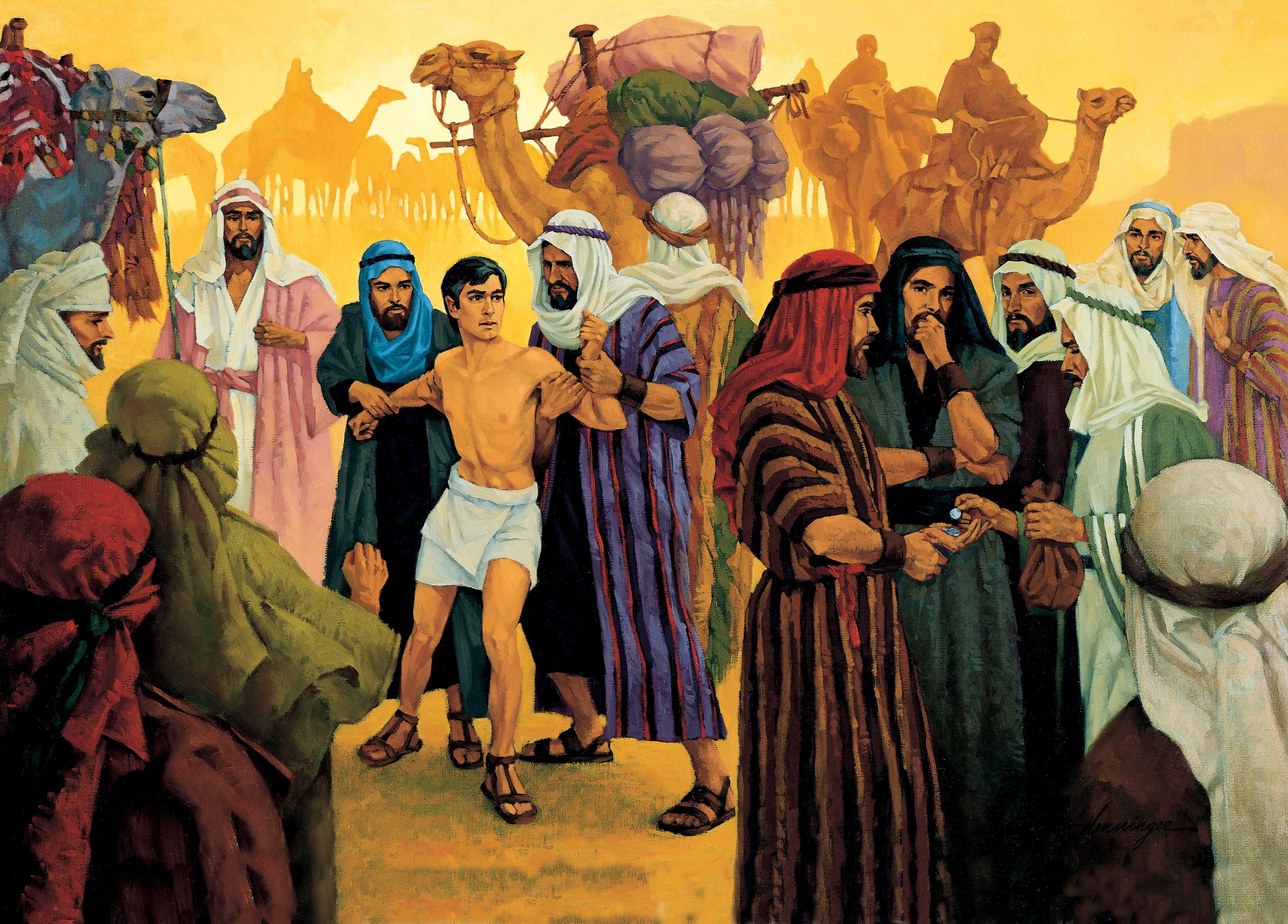 Joseph Is Sold by His Brothers, by Ted Henninger (62525); GAK 109; Primary manual 1-57; Primary manual 6-16; Genesis 37:28