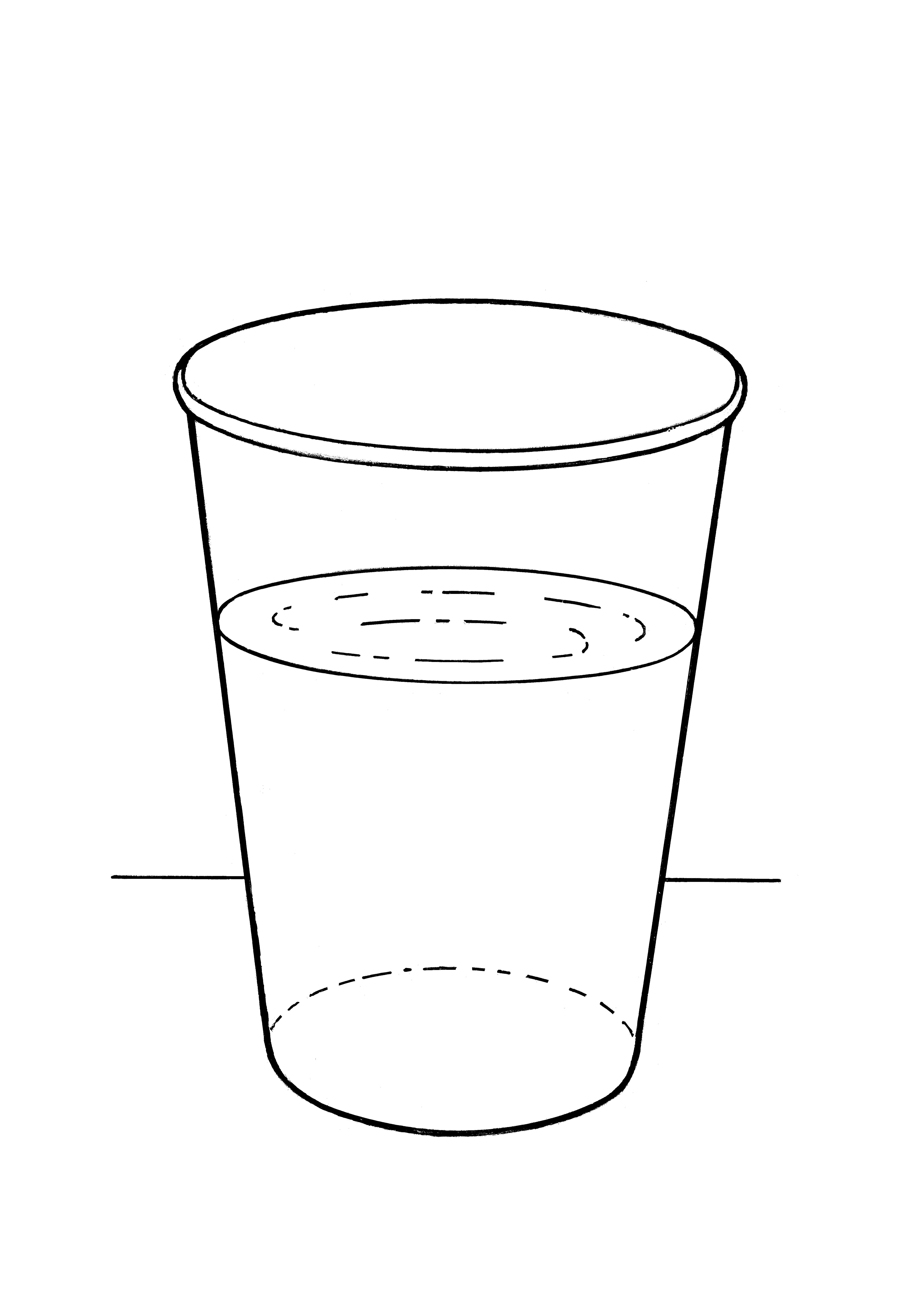 An illustration of a glass of water.