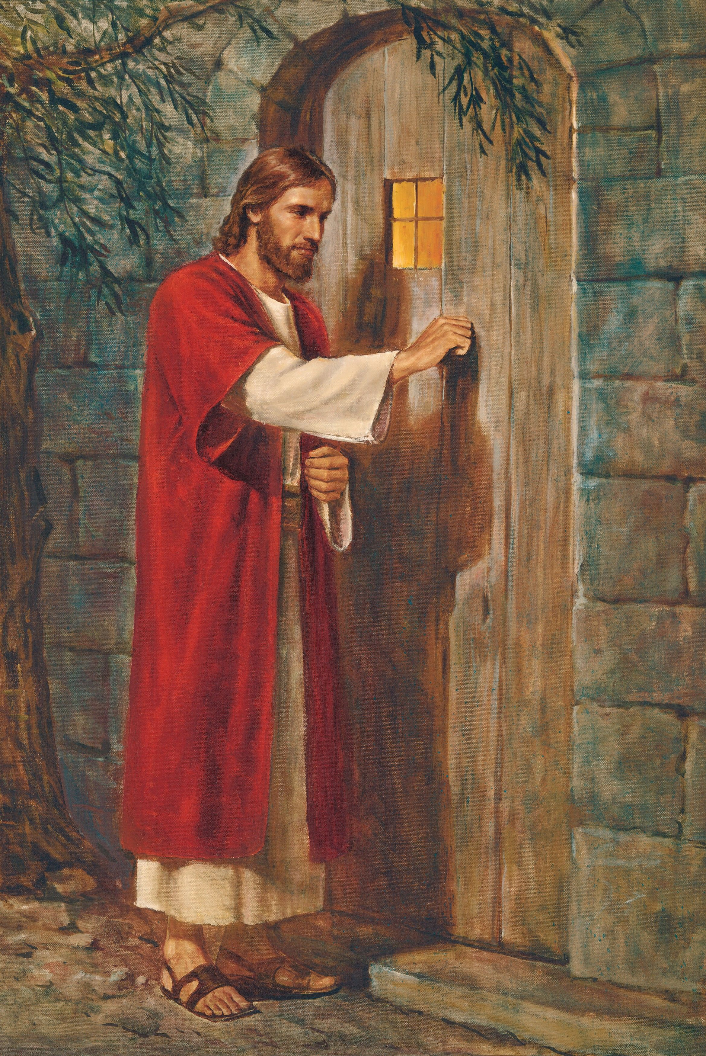 Jesus at the Door (Jesus Knocking at the Door), by Del Parson (62170); GAK 237; GAB 65; Primary manual 6-36; Revelation 3:20