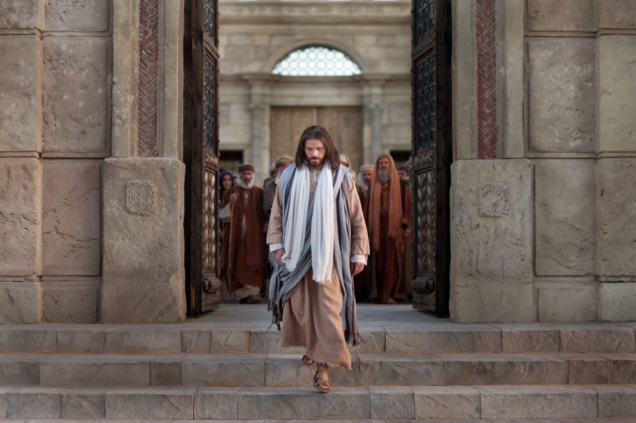 Jesus Christ after the cleansing of the temple