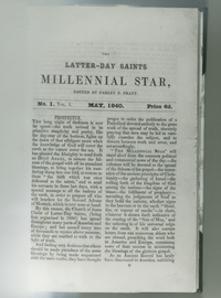 The first issue of the Millennial Star
