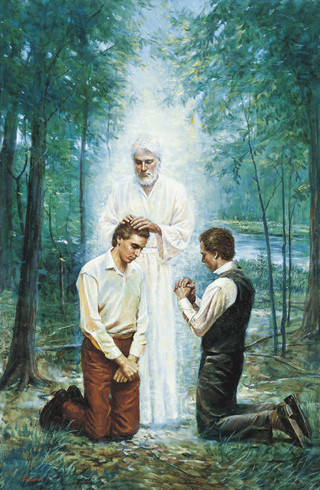 John the Baptist Conferring the Aaronic Priesthood (The Restoration of the Aaronic Priesthood)