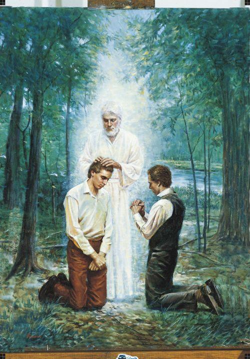 John the Baptist Conferring the Aaronic Priesthood (The Restoration of the Aaronic Priesthood)