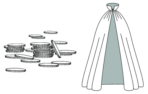 cloak and coins