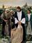 man kneeling in thanks before Jesus