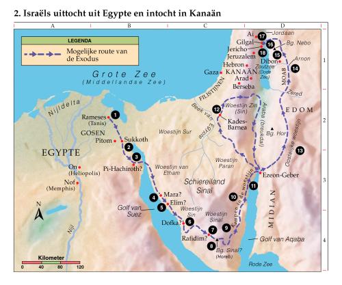 2 isra 235 ls uittocht uit egypte en intocht in kana 228 n
