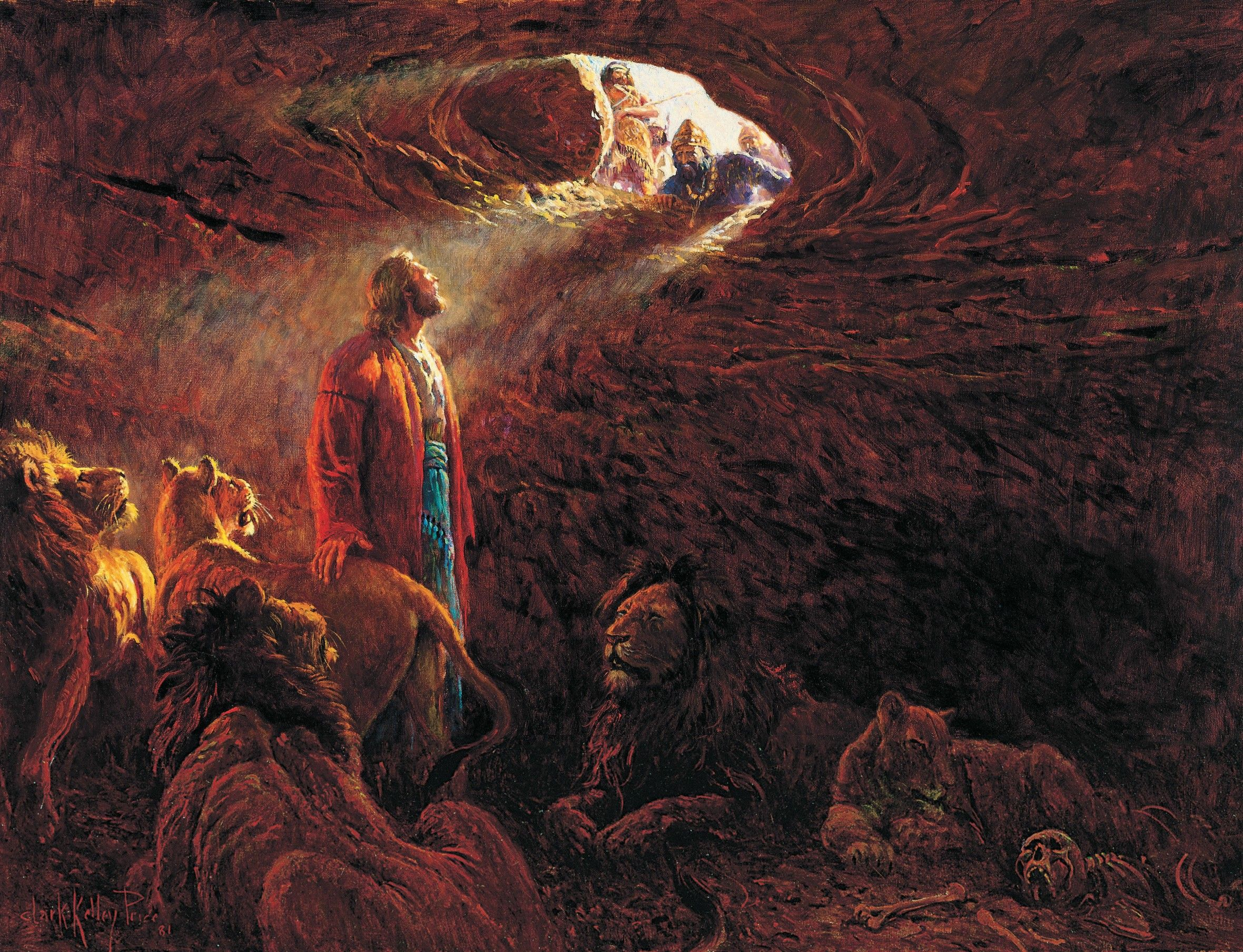 Daniel in the Lions' Den, by Clark Kelley Price (62096); GAK 117; GAB 26; Primary manual 1-14; Primary manual 6-13; Daniel 6