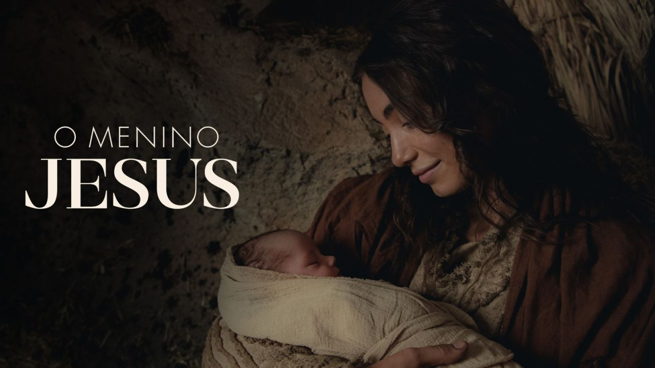 Maria segurando o Menino Jesus