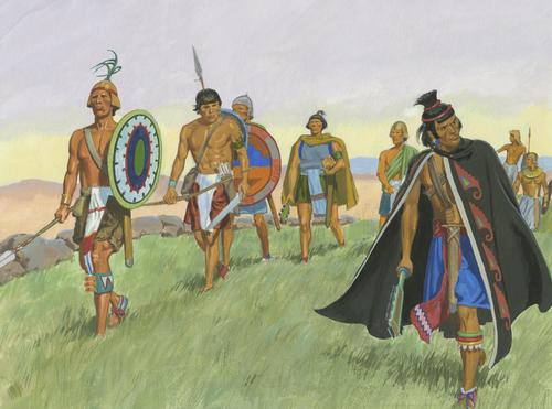 Lamanites preparing to fight