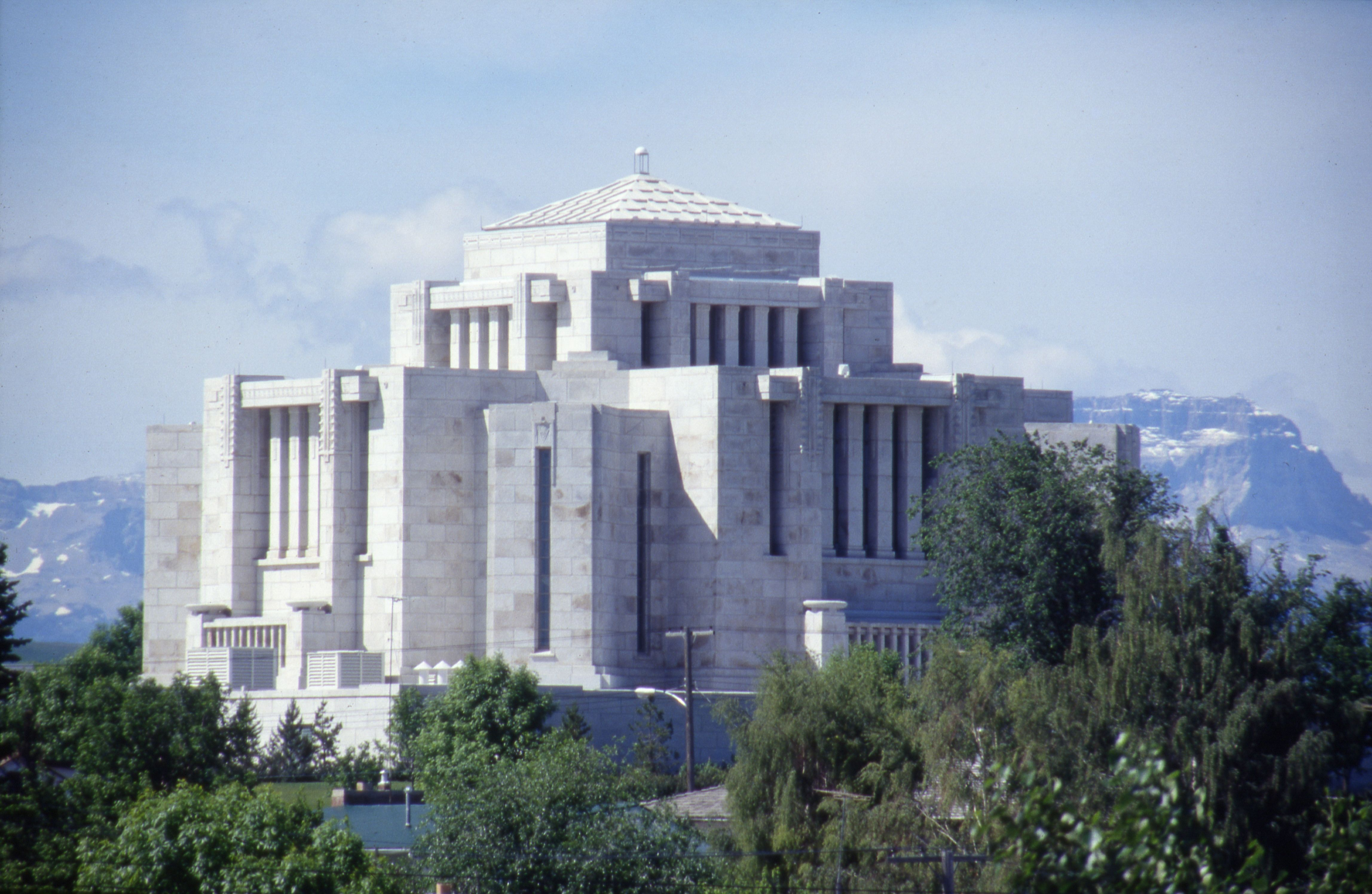 The Cardston Alberta Temple during the daytime.