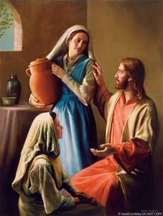 Christ in the Home of Mary and Martha (Mary and Martha)