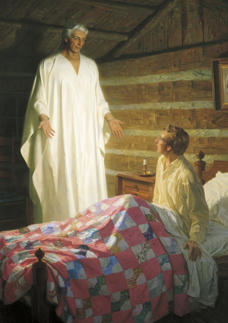 Moroni Appears to Joseph Smith in His Room (The Angel Moroni Appears to Joseph Smith)
